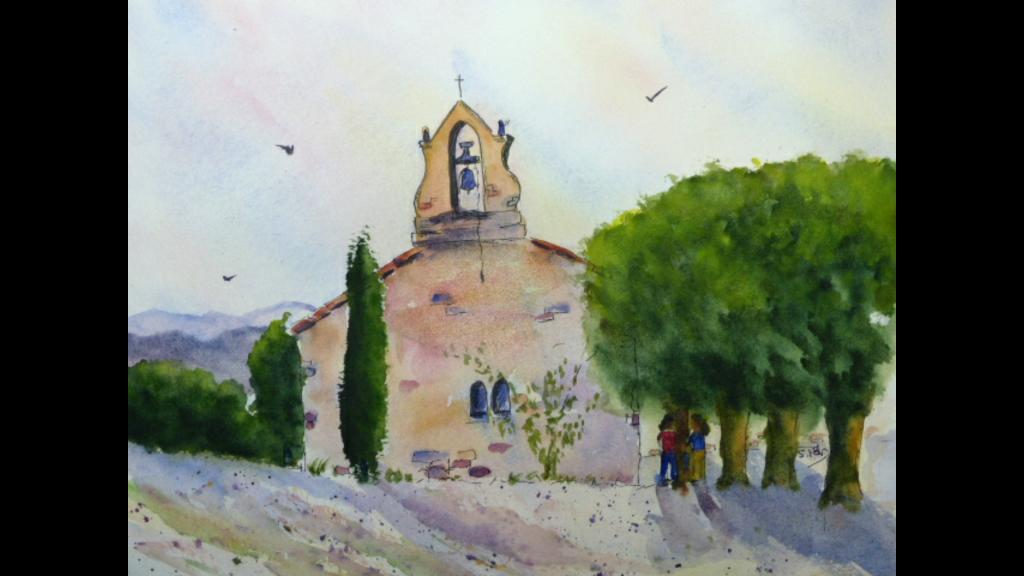 Aquarelle : la petite chapelle