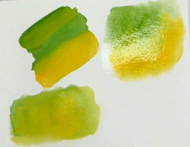 le dosage de l'eau et le mélange des couleurs
