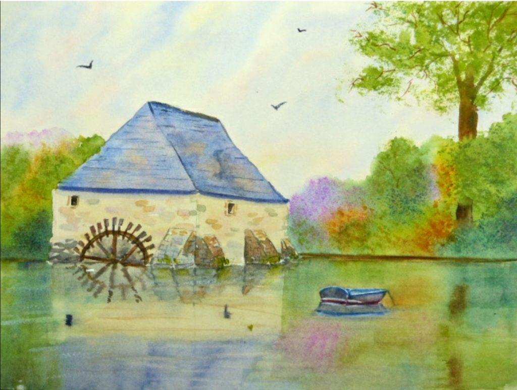 Aquarelle : Moulin de Pont Aven
