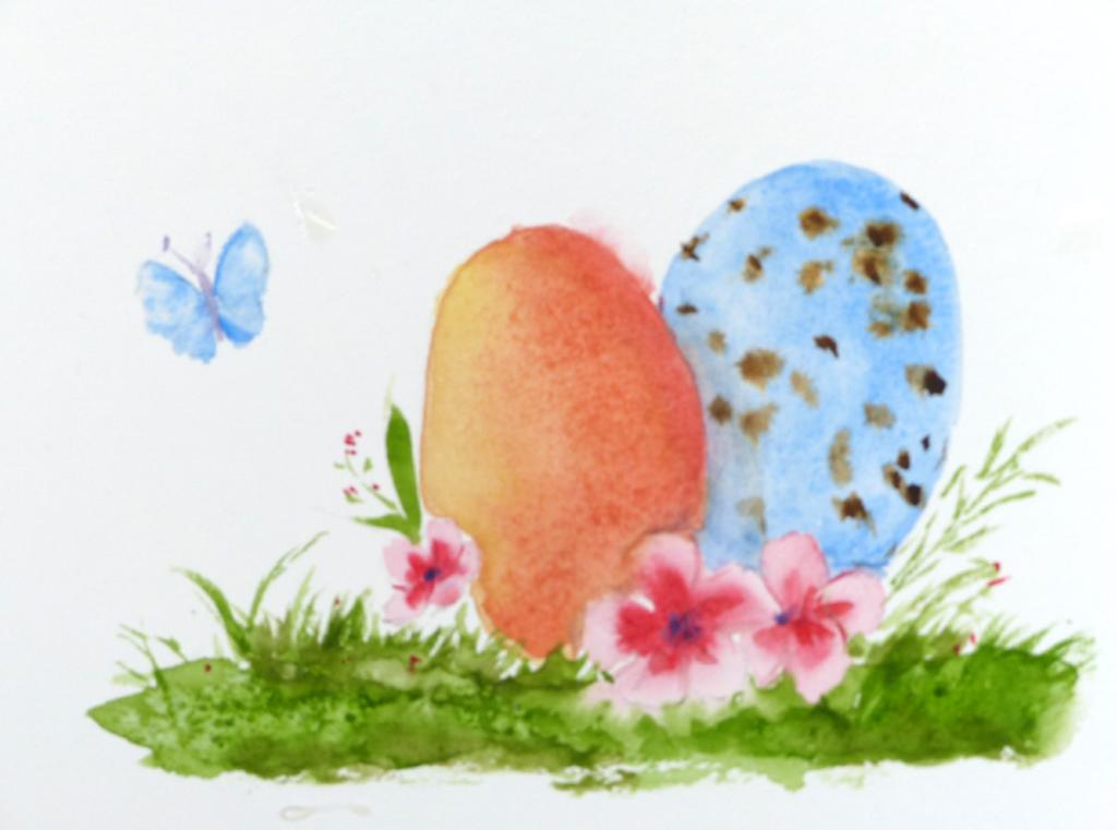 Aquarelle : Illustration de Pâques #1