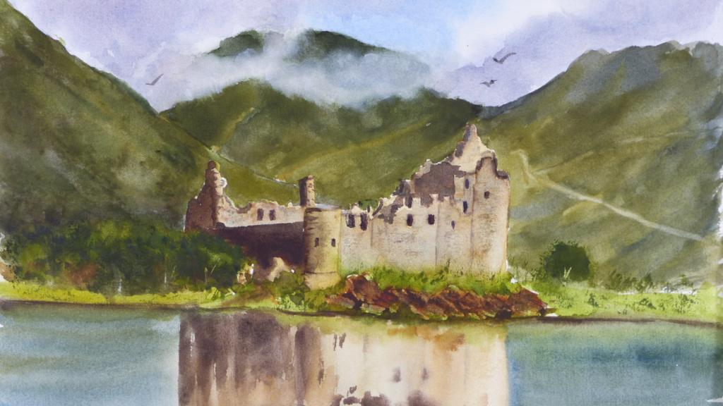 Aquarelle : Kilchurn castle