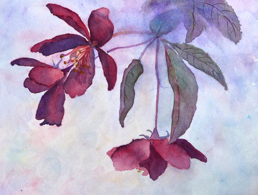 Aquarelle : peindre des fleurs dans l'humide